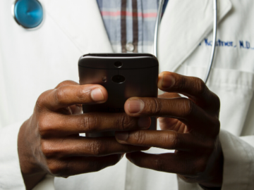 A doctor providing telemedicine | Abi Global Health